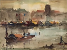 Lim Cheng Hoe (Watercolour on paper) 1962